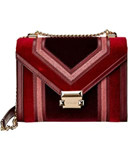 4daa415af5f170 MICHAEL Michael Kors Whitney Large Metallic Signature Shoulder Bag ...