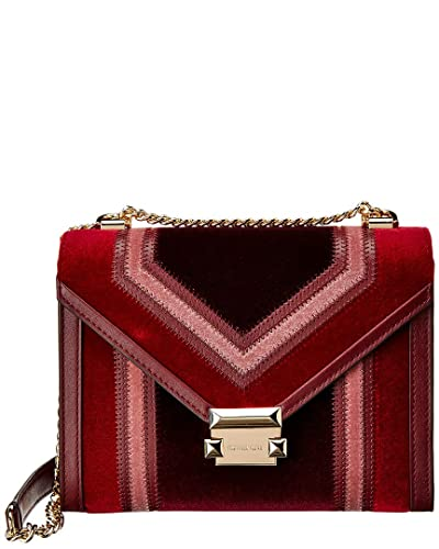 070c80c00f42 Image Unavailable. Image not available for. Color  Michael Kors Whitney  Large Velvet Shoulder Bag