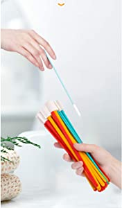 Hole Brush,Deep Detail Scrubber,Tiny Window Door Track Groove Gap Cleaning Brush,Bottle Caps Brush,Keyboard Scrub,Cleaner Tool with Handles for Small Hole Corner Spaces,Multicolour (50 pcs/set)