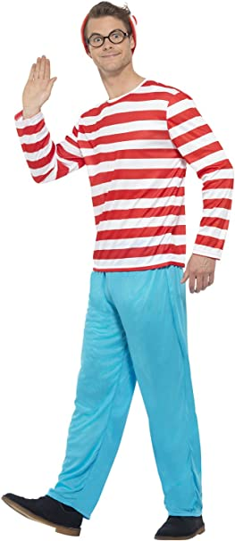 Disfraz original de «¿Dónde está Wally?» para hombre: Amazon.es ...