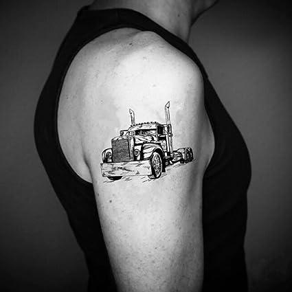 Tatuaje Temporal de Camión (2 Piezas) - www.ohmytat.com: Amazon.es ...