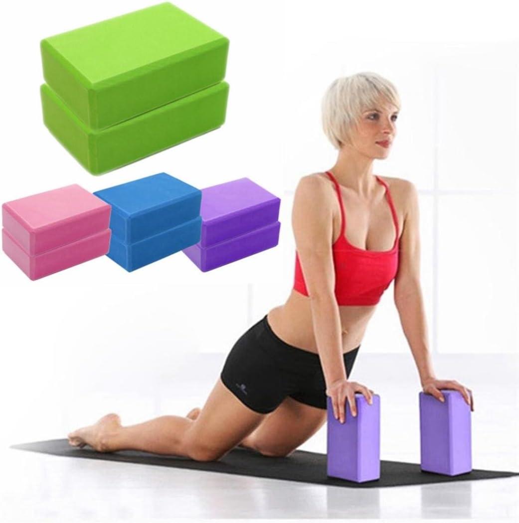PowerLife EVA Gym Blocks Foam Brick Training Exercise Fitness Set Tool Yoga Bolster Pillow Cushion Stretching Body Shaping Health Training