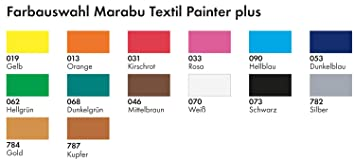 "Marabu Textilmarker /""Textil Painter Plus/"" metallic silber"
