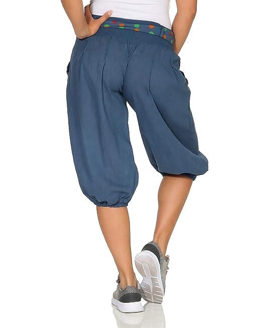 Donna Capri Estate Pantaloni Tessuto Pantaloni Shorts Bermuda Sport Aladin 3//4 breve Pump Pantaloni
