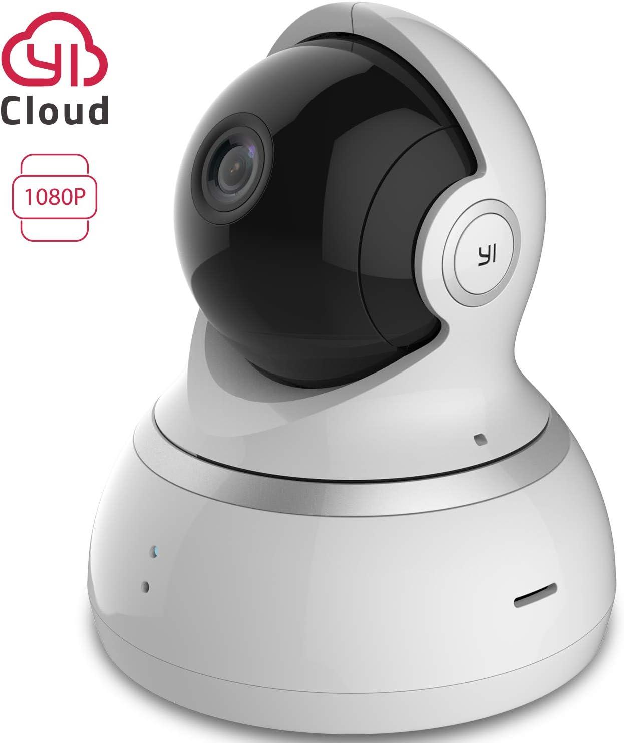 YI Camara Vigilancia 1080p Camara IP Camaras de Vigilancia Wifi Interior 360° Compatible con Alexa Detección de Movimiento, Visión Nocturna, Audio de 2 Vias y Nube con App para iOS y Android Blanco