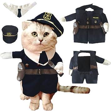 Amazon.com: Pet agente de policía Disfraces Ropa para ...