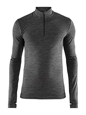 Craft Mens Base Layer  Fuseknit Comfort Zip Long Sleeve Wicking Top at  Amazon Men s Clothing store  8649853fa