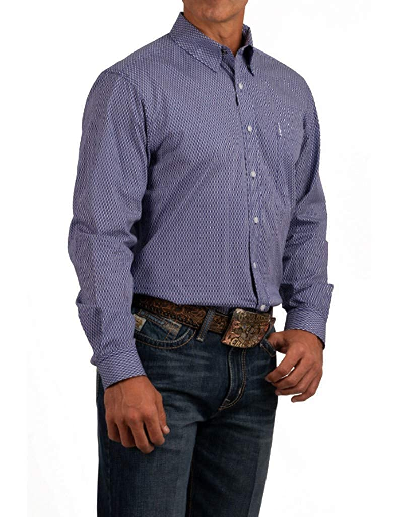Cinch Mens Diamond Geo Print Long Sleeve Western Shirt