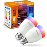 2-Pack MustWin 60W-Equivalent Smart LED Bulb with Alexa and Google Assistant