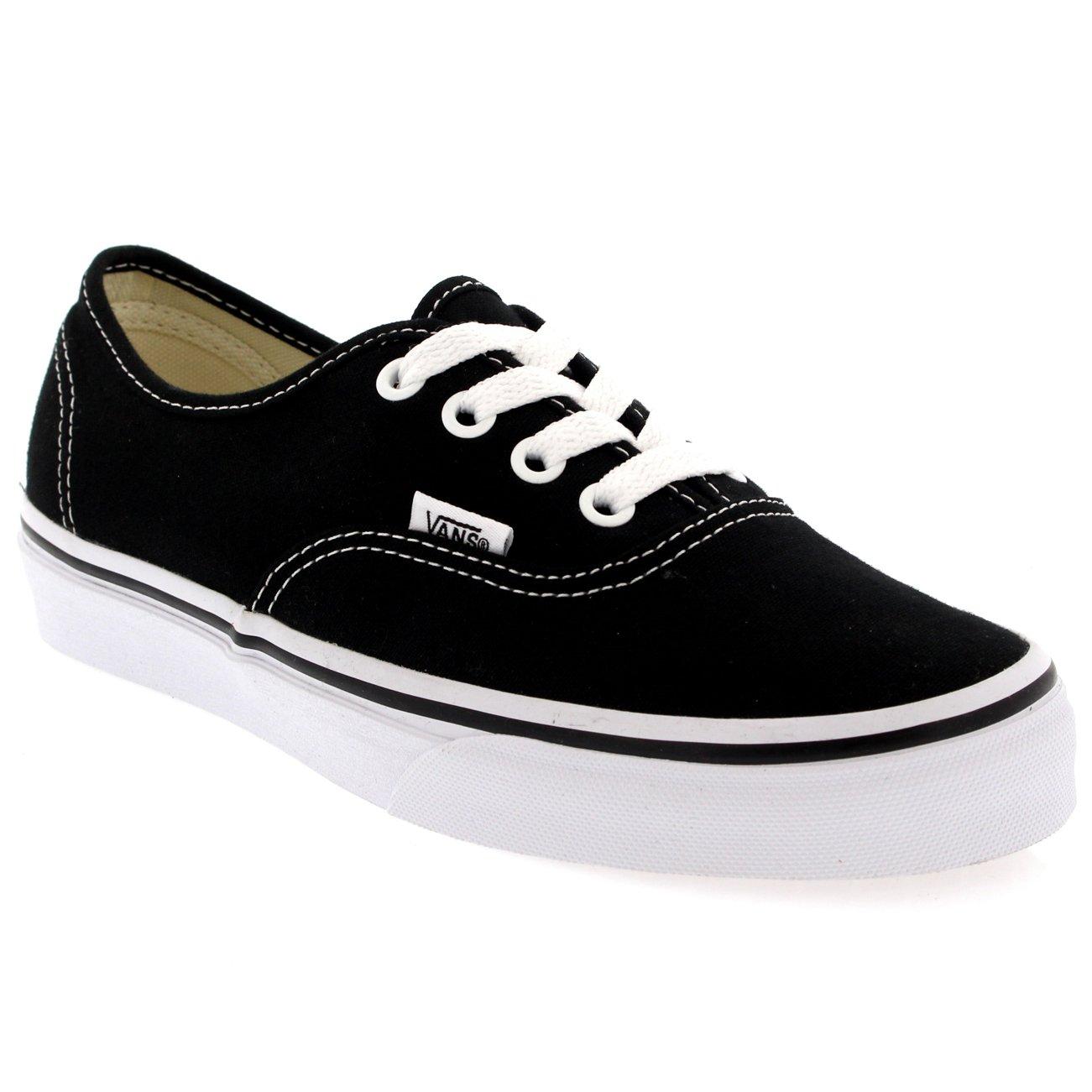 Vans Authentic Unisex Skate Trainers Shoes Black 8.5 B(M) US Women/7 D(M) US Men