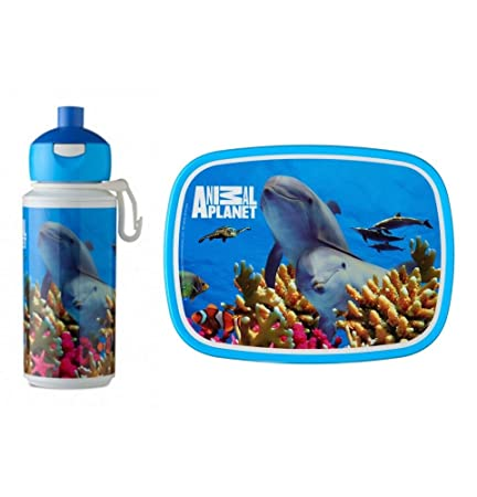8bbb3fdf0838 Rosti Mepal Childs Lunch Box and Pop Up Drink Bottle, Dolphin Animal ...