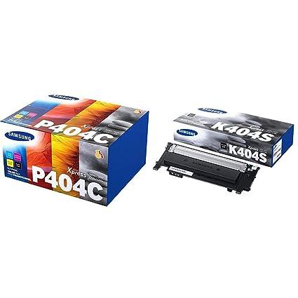 Samsung CLT-P404C/ELS Tóner kit SL-C430/C480 + CLT-K404S Cartucho de tóner, 1500 páginas, color negro