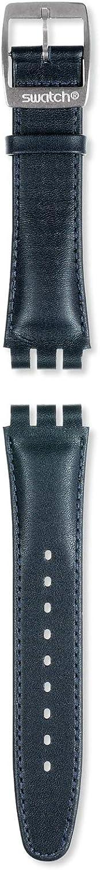 Correa piel azul para relojes Swatch Irony Chrono AYCS004 19mm