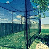 12' High X 12' Wide X 55' Long Batting Cage Net, #36 Polypro Netting, Rope Bordered with Door