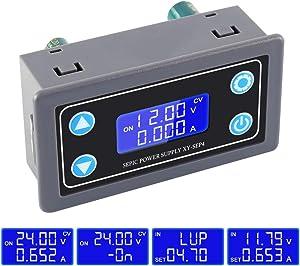 ICStation Buck Converter, Step Up Down Power Controller Supports Over-Discharge Protection Voltage Regulator Module DC 5.0V-30V to 0.5V-30V Boost Converter Adjustable.