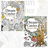 Dream Catcher Stress Reducing Art Therapy Adult Colouring Books Pack, (Dream Catcher: A Tree of Life and Dream Catcher: A Soul Bird)