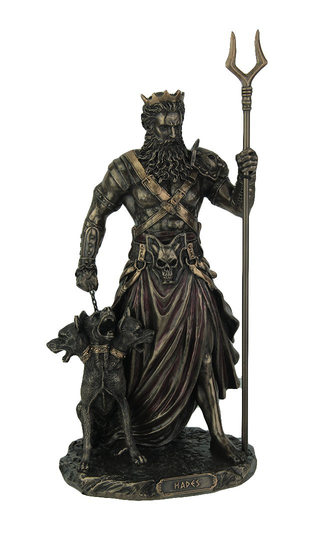 Veronese Hades – Greek God of The Underworld with Cerebrus Statue