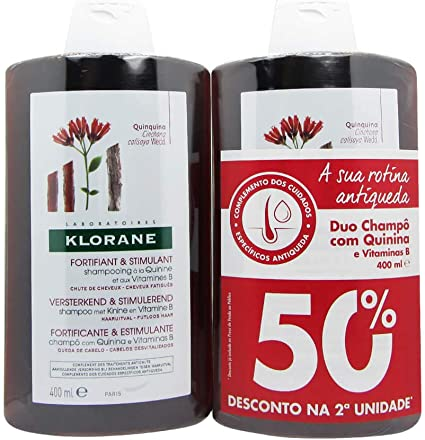 Klorane Duo Champo Quinina 2 x 400ml: Amazon.es: Belleza