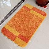 DGF Mattress Door Dust Foot Pad Hygiene Kitchen Cushions carpet ( Color : Orange , Size : 5080cm )