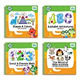 Toys : LeapFrog LeapStart Level 1 Preschool 4-in-1 Activity Book Bundle with ABC, Shapes and Colors, Math, Animals
