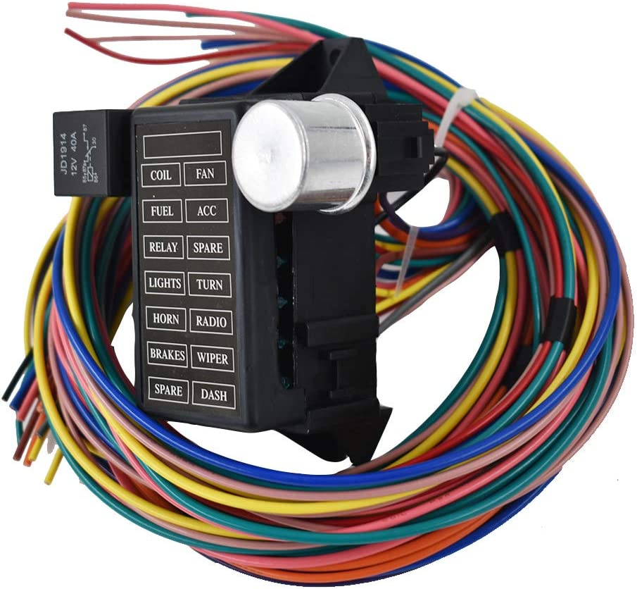 street rod fuse box under hood amazon com labwork parts new 14 circuit fuse universal wire  labwork parts new 14 circuit fuse