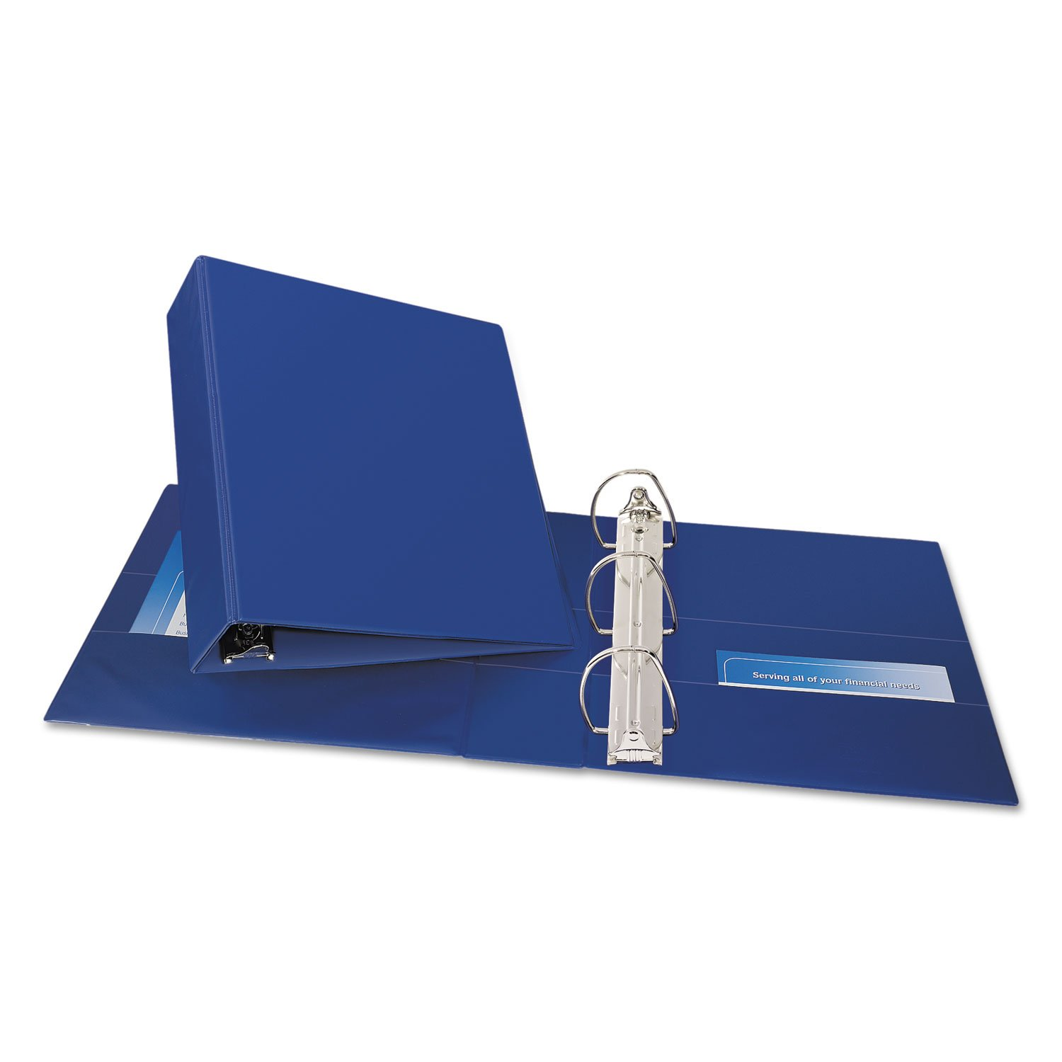 Avery Products - Avery - Durable Slant Ring Reference Binder, 3amp;quot; Capacity, Blue - Sold As 1 Each - Gap FreeTM feature prevents ring misalignment so pages turn smoothly. - Back-mounted slant rings hold up to 25% more sheets than same size round rin