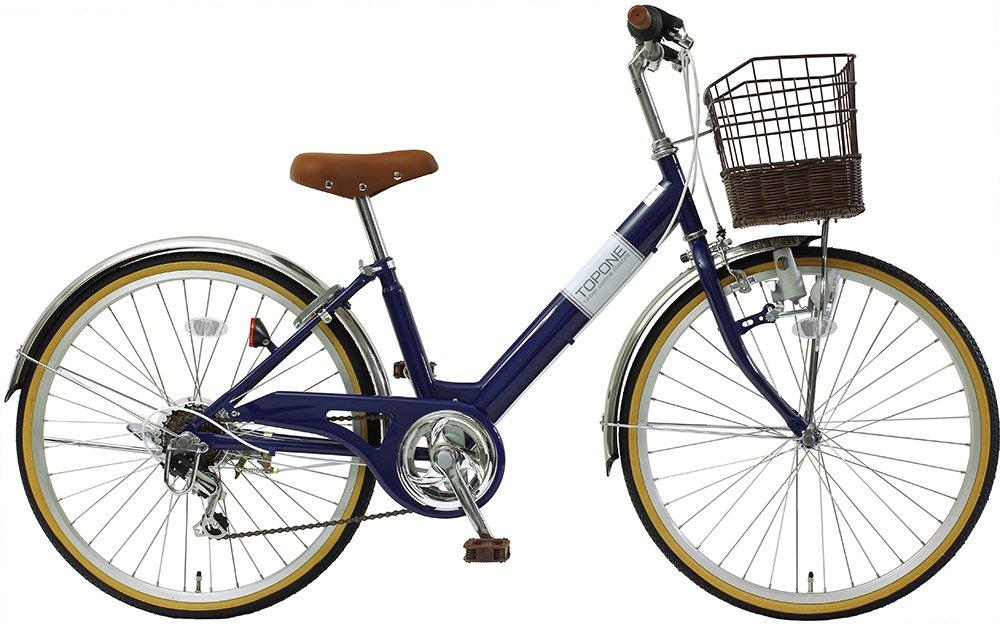 子供用自転車 24インチ シマノ6段変速 ステンレス泥除け 男の子 女の子 シティサイクル キッズバイク ジュニアサイクル NV246-NB ネイビー   B018HK5A0Y