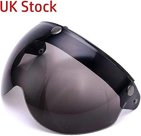 visiera per casco da moto adatta a tutti i caschi aperti montaggio con 3 bottoni a scatto MotorsFansClub universale