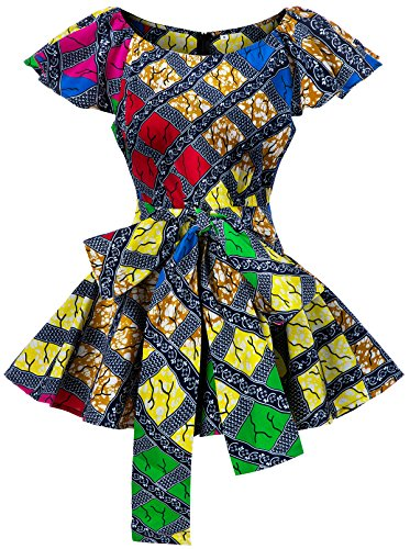 Shenbolen Womens Dashiki Tops Sleeveless Summer African Printed Slim Fit Shirts Blouse (Small, A)