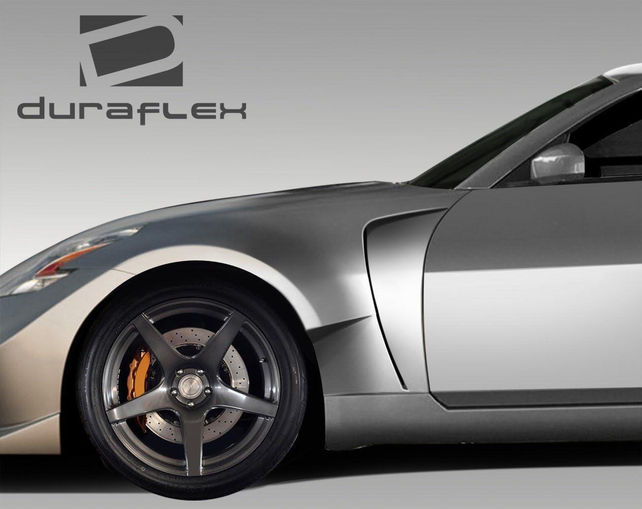 Compatible For Nissan 350Z 2003-2008 Duraflex ED-BQD-316 RBS Front Fender Flares 2 Piece Body Kit