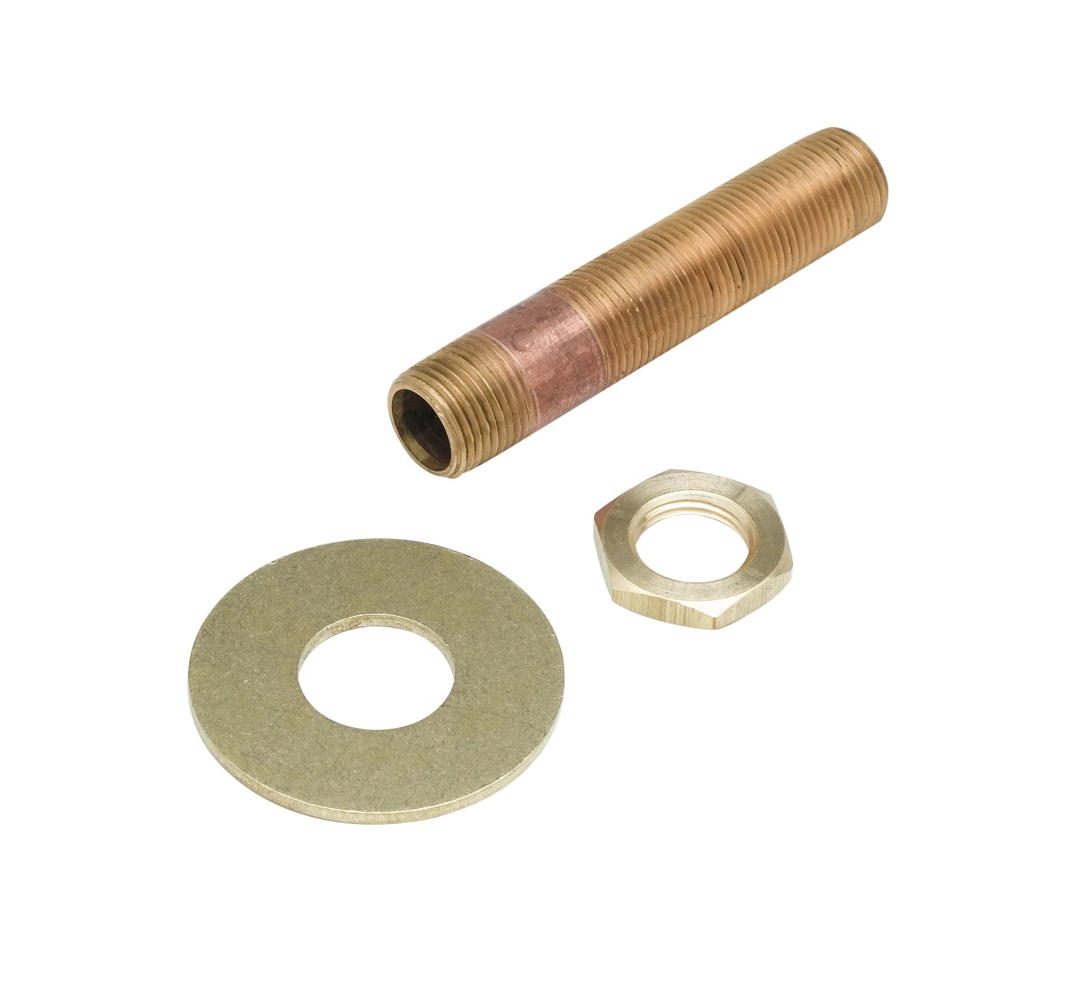 T&S Brass B-0429 3/8-Inch Npt Supply Nipple Kit with 3-3/8-Inch Length, Lock Nut and Washer