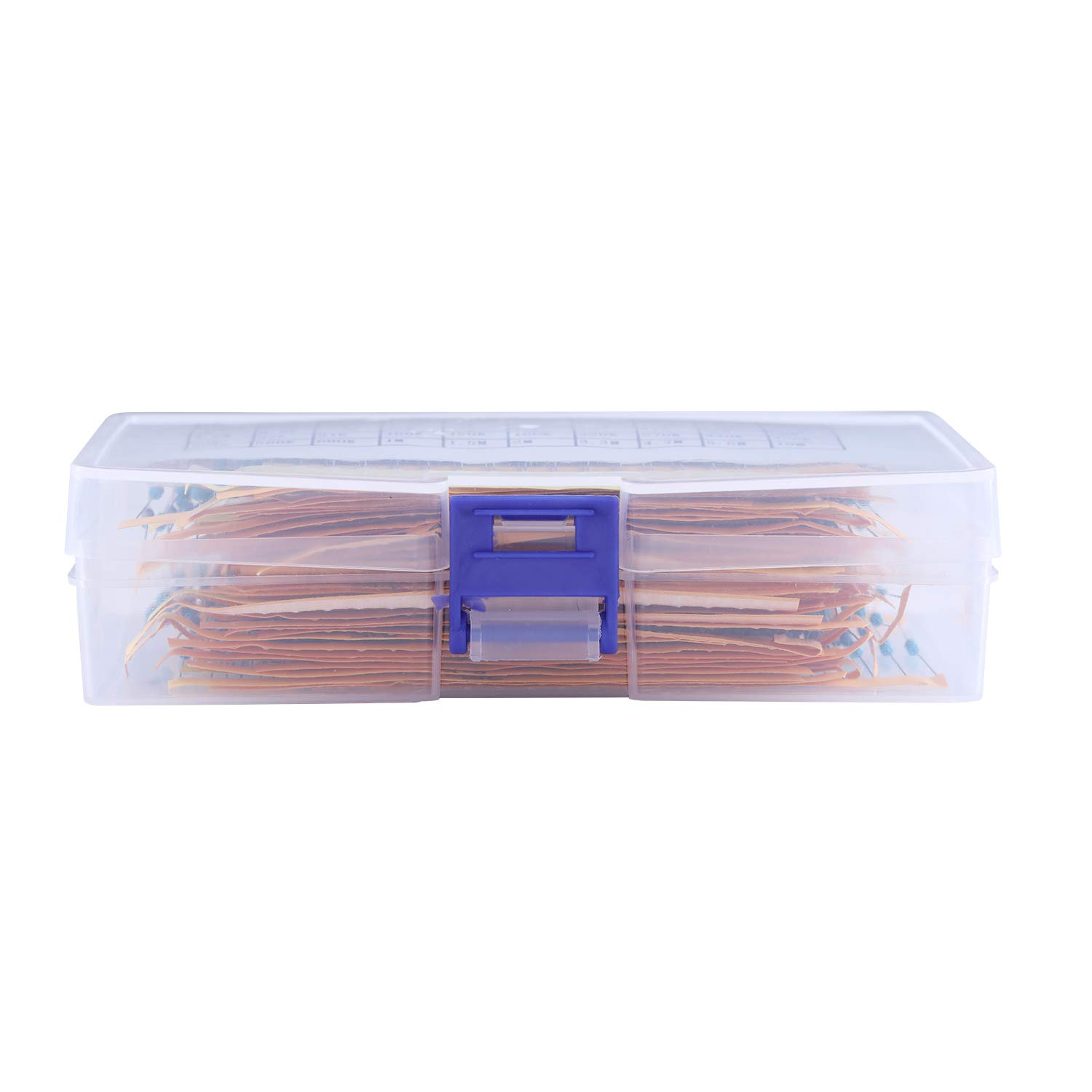 1400 Pieces 70 Values Resistor Kit 1/% Assorted Resistors 1//4W Metal Film Resistors Assortment with Storage Box for DIY Projects and Experiments