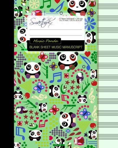 Blank Sheet Music: Music Manuscript Paper / Staff Paper / Musicians Notebook [ Book Bound (Perfect Binding) * 12 Stave * 100 pages * Large * Music Panda ] (Composition Books - Music Manuscript Paper) Blank Sheet Music Manuscript