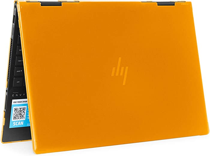 "mCover Hard Shell Case for 2019 15.6"" HP Envy X360 15-DSxxxx / 15-DRxxxx Series (NOT Compatible with X360 15-AQxxx / 15-BPxxx and Other Series) (Orange)"
