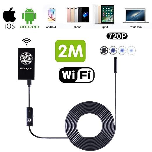 4 opinioni per WiFi Endoscopio, SGODDE Endoscopio Fotocamera Impermeabile Macchina Fotografica