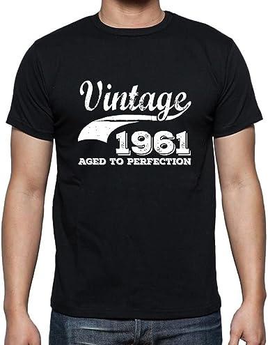 Tee Shirt Homme Vintage T Shirt Vintage Aged to Perfection 1961 Cadeau danniversaire 60 Ans