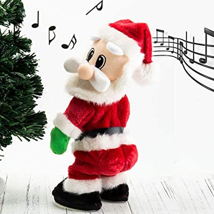 cfe7a0bef9d10 Singing Dancing Father Santa Claus Xmas Novelty Toy Fun Christmas Twisted  Hip Animated Santa Claus Decoration