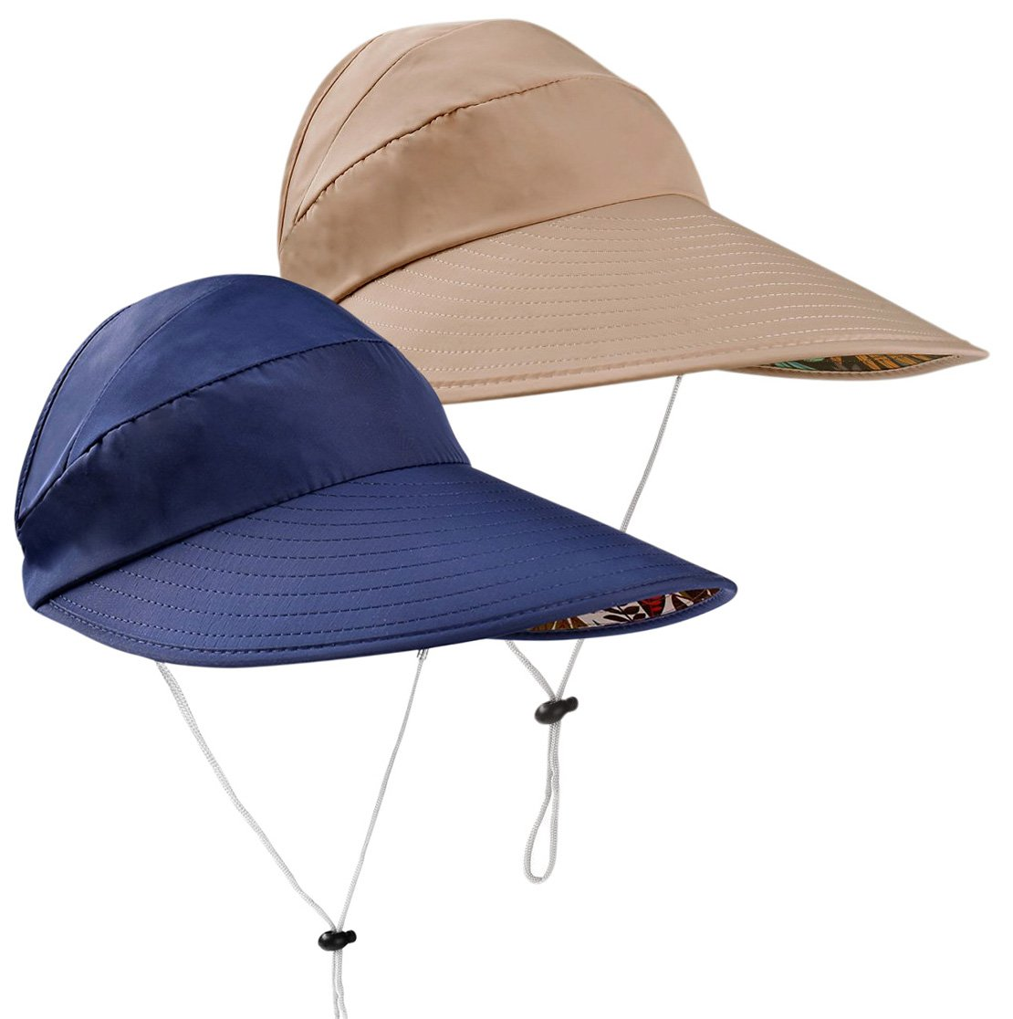 HindaWi Sun Hats for Women Wide Brim UV Protection Visor Floppy Hat Beach Summer Packable Caps by HindaWi (Image #1)