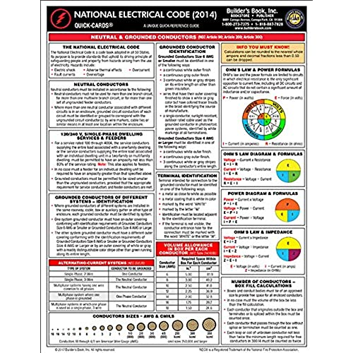 Nec 2014 code book amazon 2014 national electrical code quick card fandeluxe Images