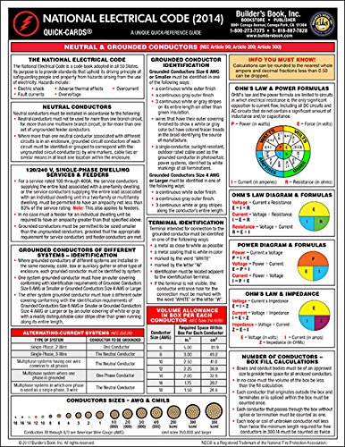 2014 national electrical code quick card builder\u0027s book inc Knob and Tube Wiring 2014 national electrical code quick card builder\u0027s book inc , christiana kouzman 9781622700936 amazon com books
