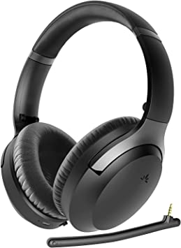 Avantree Aria Pro aptX-HD Bluetooth 5.0 Active Noise Cancelling Headphones Headset with Boom Mic for Hi-Fi Music Calls