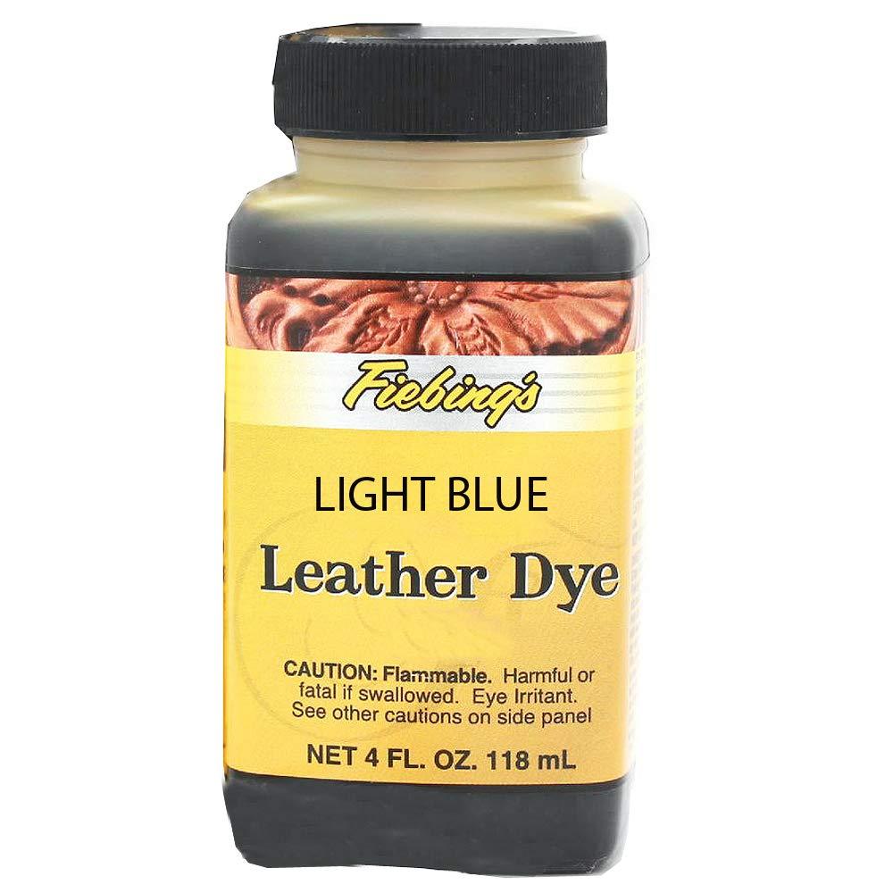 Fiebing's Leather Dye, Light Blue, 4 oz. Fiebing' s Leather Dye FIEBINGS