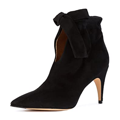 Classical Pointy Toe Ankle Booties Dress Low Kitten Heel Graceful Boots For Women