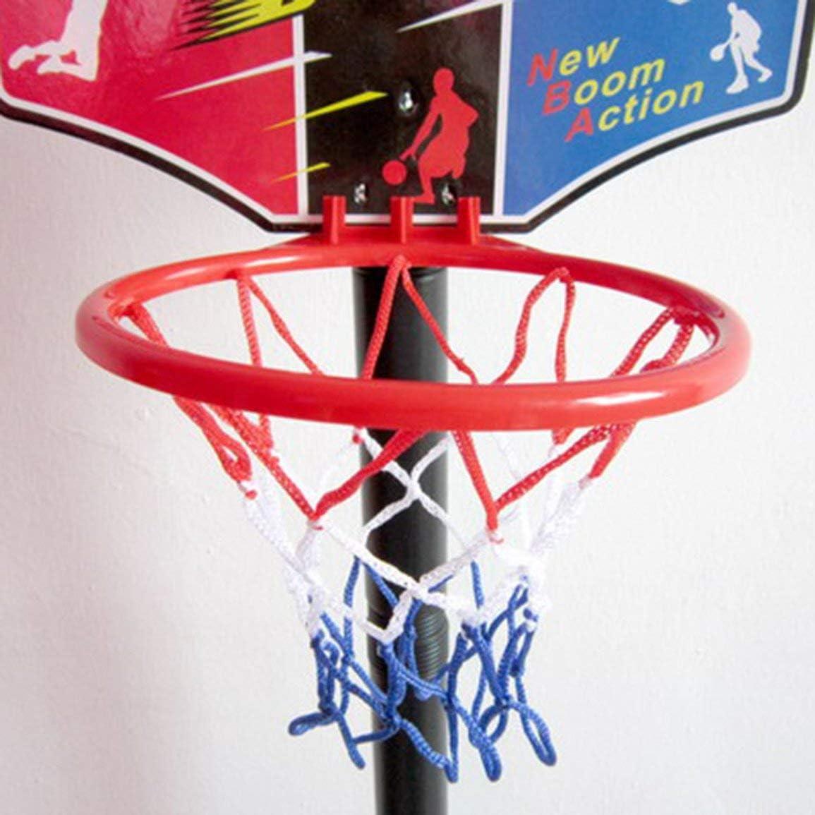 Fantasyworld Kinder Geschenk Basketball-Standplatz Adjustable Outdoor Indoor Sports beweglicher Basketballkorb Spielzeug-Set St/änder Kugel Backboard Kit