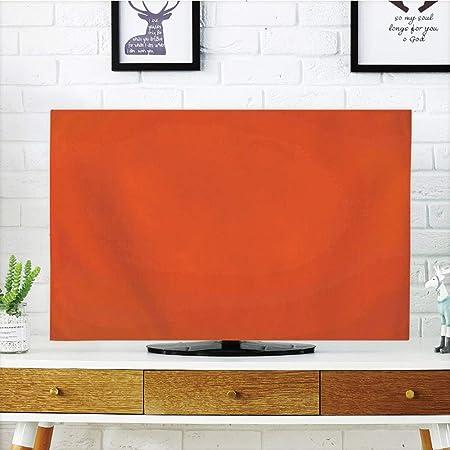 Funda para televisor LCD, diseño de pétalos de Gerbera en Estilo gráfico Vibrante de Verano y Naturaleza, Color Naranja, Amarillo Escarlata, diseño de impresión 3D Compatible con TV de 32 Pulgadas: Amazon.es: