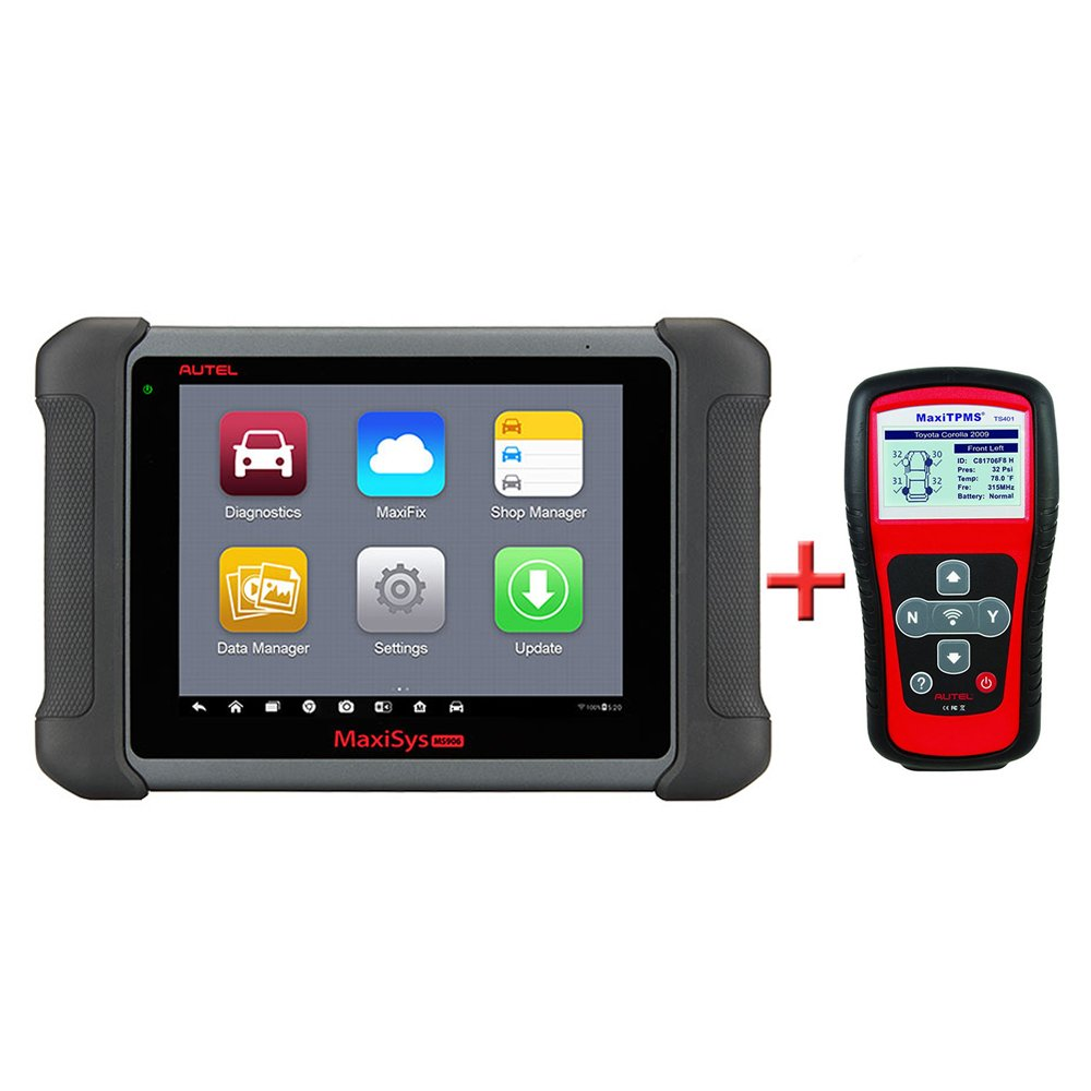Autel Maxisys MS906 Diagnostic Scanner with OE-level Vehicle Coverage for Reading Erasing Codes, Actuation Tests, Adaptations with MaxiTPMS TS401 TPMS Reset Tool