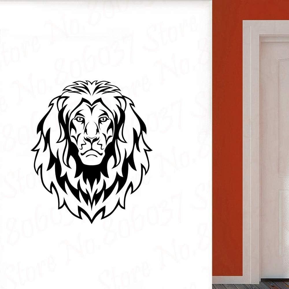 wZUN Diseño de hogar León Pared calcomanía Vinilo Pared Pegatina Arte extraíble Sala de Estar Papel Tapiz 63X73cm