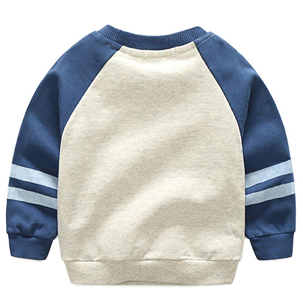 Amazon.com  Jojobaby Toddler Baby Boys Dinosaur Crewneck Pullover Sweatshirt  Kids Sweater Hoodie 1-7T  Clothing bc9141cab