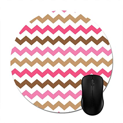 488acbb668e Amazon.com   Chevron Chic Pink Brown Zigzag Pattern Mouse Pad 8 ...