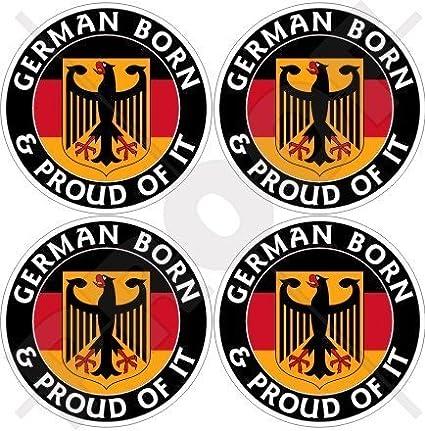 Deutschland Deutsch Geboren Und Stolz Deutschland 50mm Auto Motorrad Aufkleber X4 Vinyl Sticker Garten